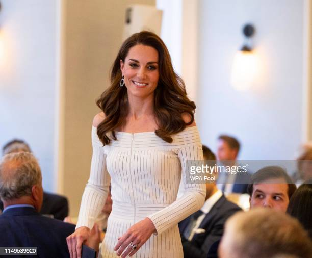 Catherine Duchess of Cambridge attends the first annual gala dinner in recognition of Addiction Awareness Week at Phillips Gallery on June 12 2019 in...