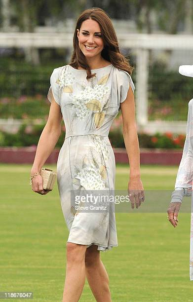 Catherine Duchess of Cambridge attends The Foundation Polo Challenge At The Santa Barbara Polo And Racquet Club on July 9 2011 in Santa Barbara...