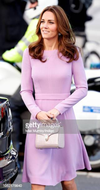 Catherine, Duchess of Cambridge attends the Global Ministerial Mental Health Summit at London County Hall on October 9, 2018 in London, England.