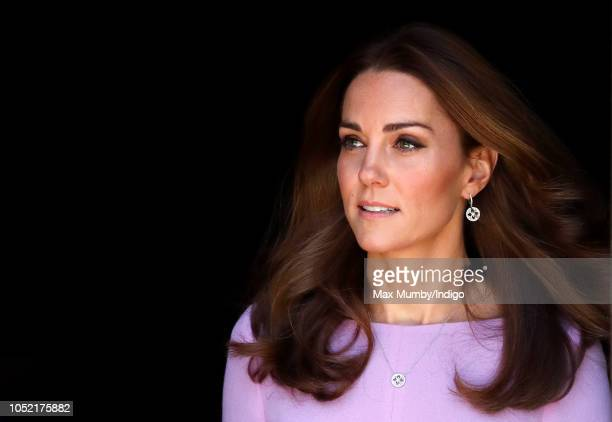 Catherine Duchess of Cambridge attends the Global Ministerial Mental Health Summit at London County Hall on October 9 2018 in London England