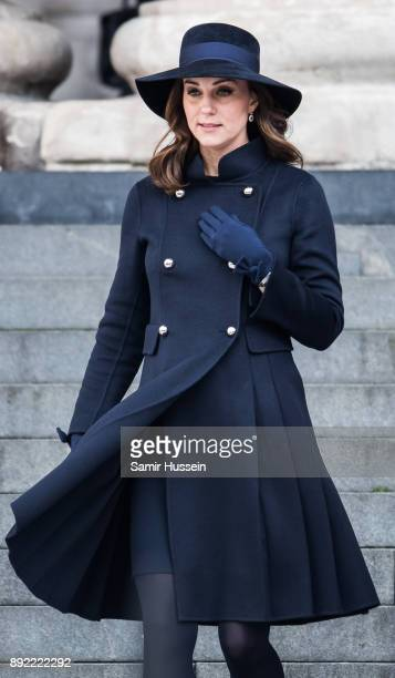 Catherine Duchess of Cambridge attends the Grenfell Tower national memorial service held at St Paul's Cathedral on December 14 2017 in London England