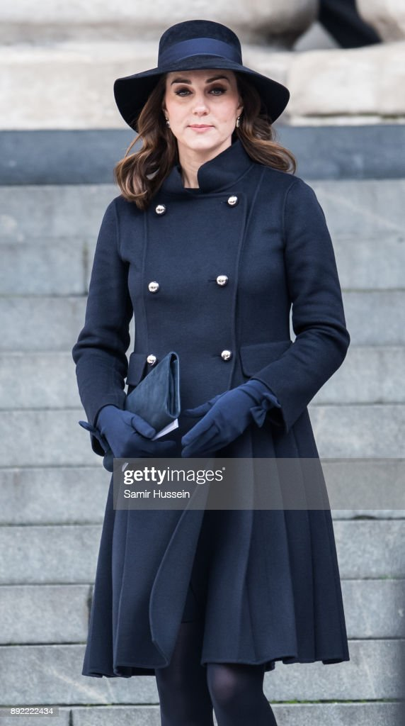 Catherine, Duchess of Cambridge attends the Grenfell Tower national memorial service held at St Paul's Cathedral on December 14, 2017 in London, England.