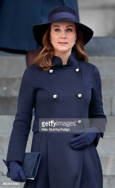Catherine Duchess of Cambridge attends the Grenfell Tower national memorial service at St Paul's Cathedral on December 14 2017 in London England The...