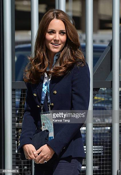Catherine, Duchess of Cambridge attends the gymnastics during the Commonwealth Games on July 28, 2014 in Glasgow, Scotland.