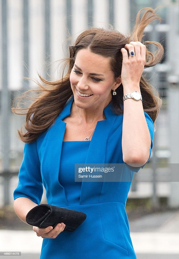 The Duchess Of Cambridge Attends The ICAP Art Room Opening At Northolt High School : News Photo