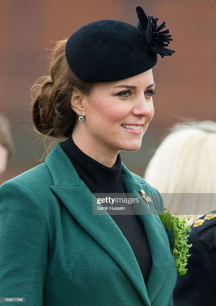 Prince William And The Duchess Of Cambridge Attend A St Patrick's Day Parade : News Photo