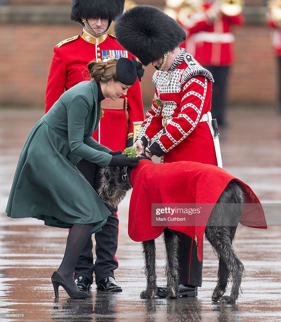 The Duchess Of Cambridge Attends the Irish Guards' St Patrick's Day Parade : News Photo