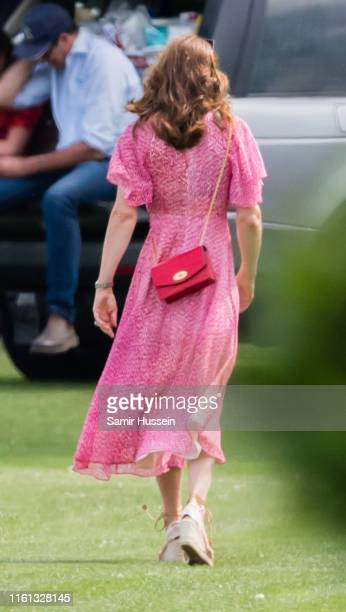 Catherine, Duchess of Cambridge attends The King Power Royal Charity Polo Day at Billingbear Polo Club on July 10, 2019 in Wokingham, England.