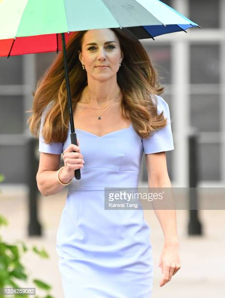 Catherine, Duchess of Cambridge attends the launch of the Royal Foundation Centre for Early Childhood at Kensington Palace on June 18, 2021 in...