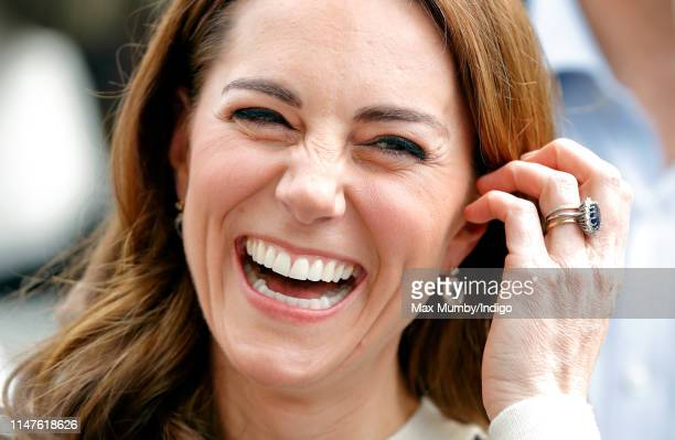 Catherine, Duchess of Cambridge attends the launch the King's Cup Regatta at the Cutty Sark, Greenwich on May 7, 2019 in London, England. The Regatta...