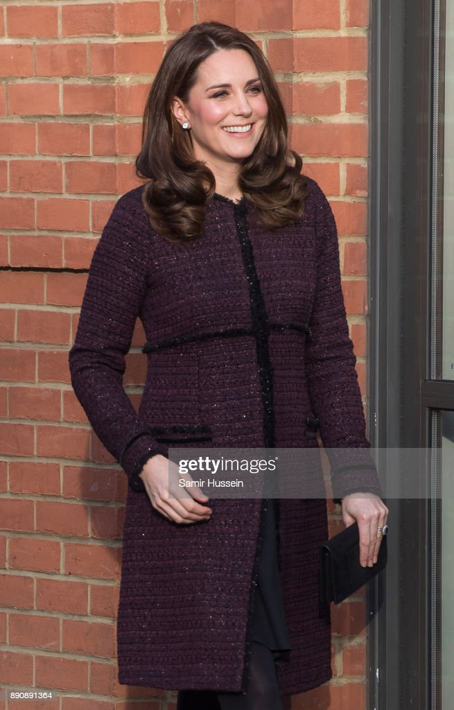 Catherine, Duchess of Cambridge attends the 'Magic Mums' community Christmas party held at Rugby Portobello Trust on December 12, 2017 in London, England. The Rugby Portobello Trust in North Kensington is part of a network of centre that help local communities and provides support by running programmes for children and parents such as homework clubs, sporting activities, social groups and tuition.