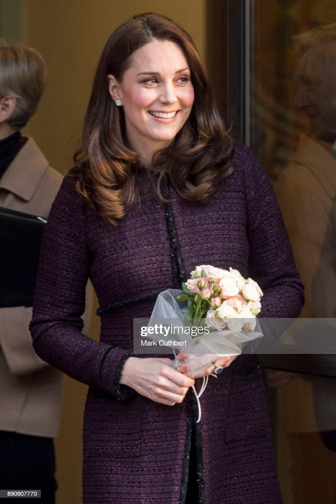 Catherine, Duchess of Cambridge attends the 'Magic Mums' community Christmas party held at Rugby Portobello Trust on December 12, 2017 in London, England.