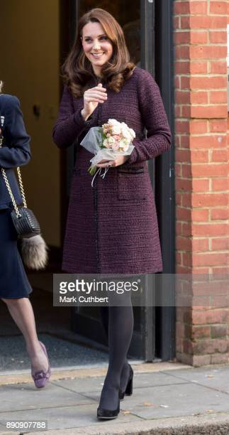 Catherine, Duchess of Cambridge attends the 'Magic Mums' community Christmas party held at Rugby Portobello Trust on December 12, 2017 in London,...
