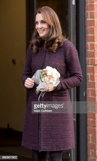 Catherine Duchess of Cambridge attends the 'Magic Mums' community Christmas party held at Rugby Portobello Trust on December 12 2017 in London England
