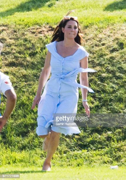 Catherine Duchess of Cambridge attends the Maserati Royal Charity Polo Trophy at Beaufort Park on June 10 2018 in Gloucester England