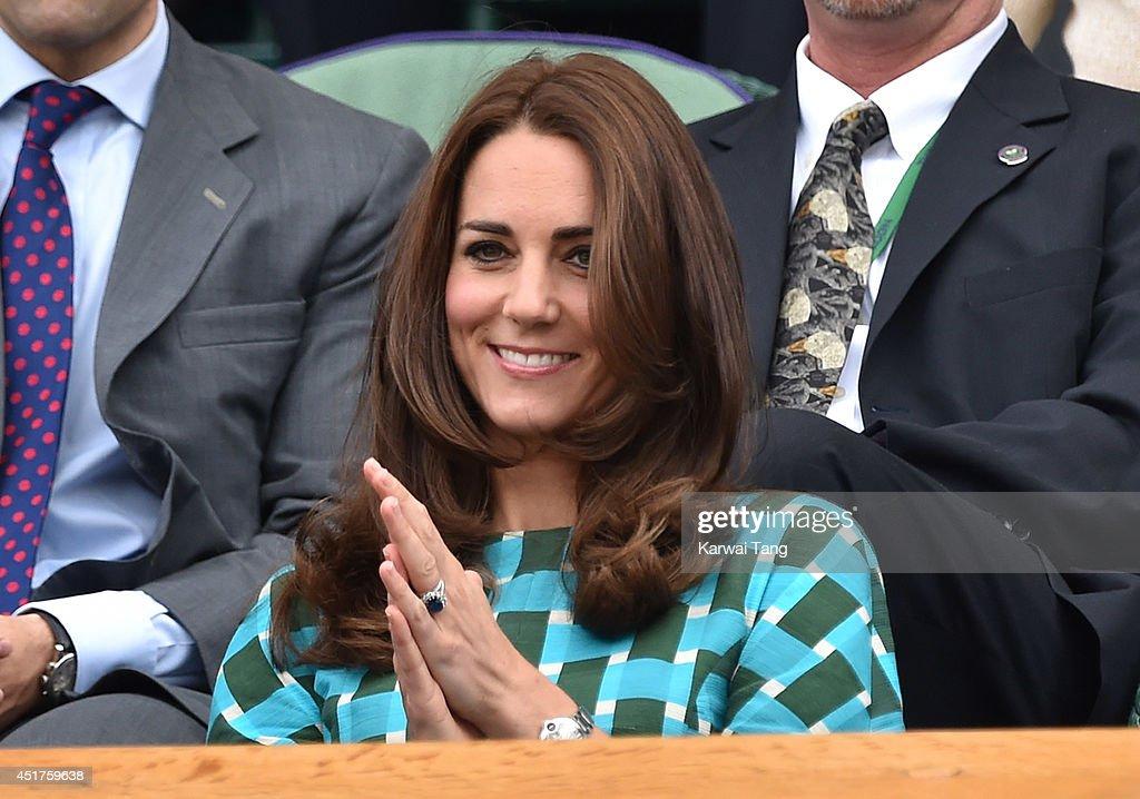 Celebrities Attend The Wimbledon Championships : News Photo