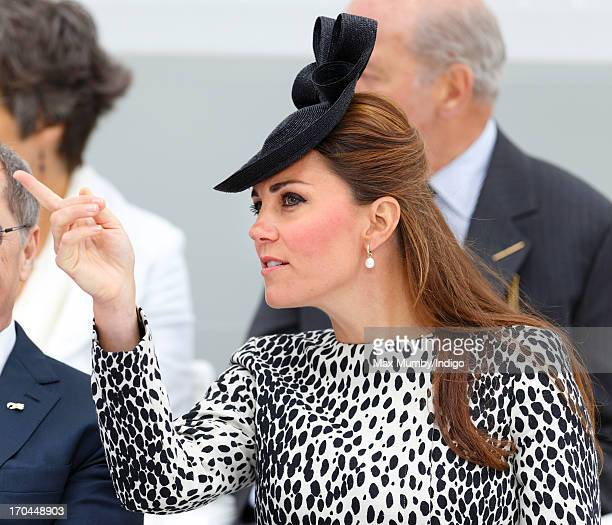 Catherine Duchess of Cambridge attends the naming ceremony for the new Princess Cruises ship 'Royal Princess' on June 13 2013 in Southampton England...