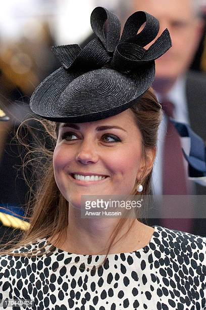Catherine Duchess of Cambridge attends the naming ceremony for the ship 'Royal Princess' on June 13 2013 in Southampton England