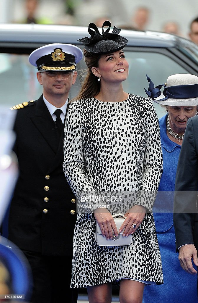 The Duchess Of Cambridge Attends Princess Cruises Ship Naming Ceremony : News Photo