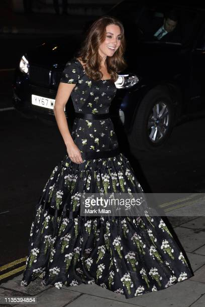 Catherine, Duchess of Cambridge attends the National Portrait Gallery gala on March 12, 2019 in London, England.