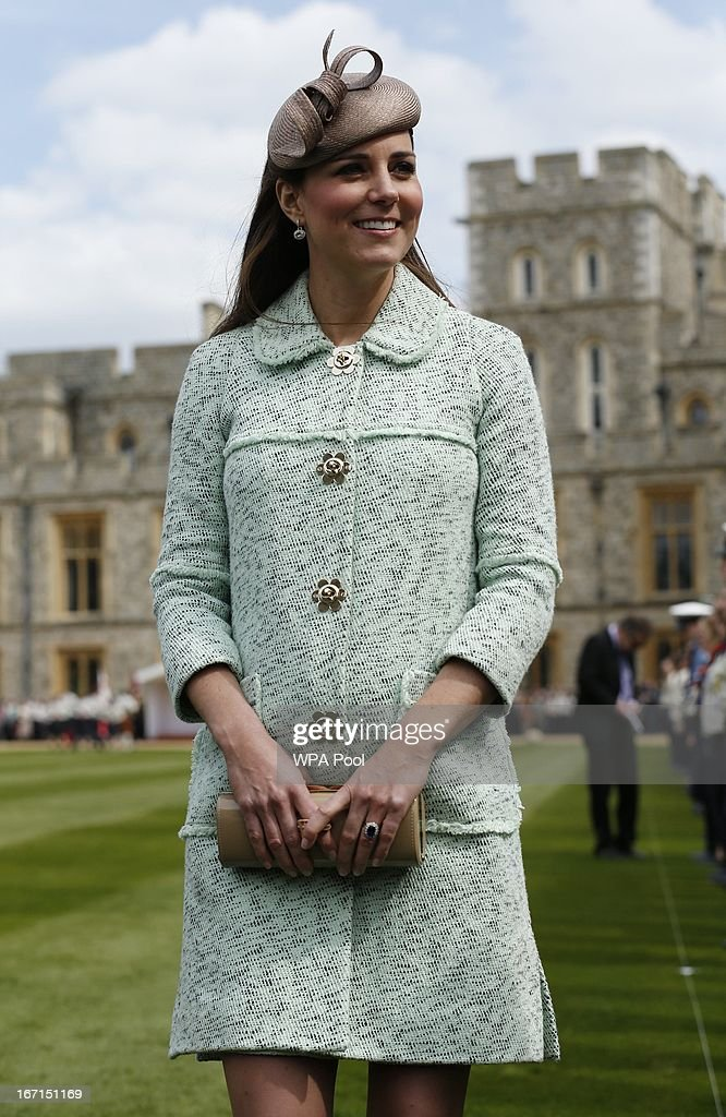 The Duchess Of Cambridge Attends The National Review Of The Queen's Scouts At Windsor Castle : News Photo