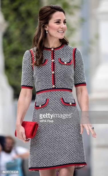 Catherine Duchess of Cambridge attends the new VA exhibition road quarter at Victoria Albert Museum on June 29 2017 in London England The VA...