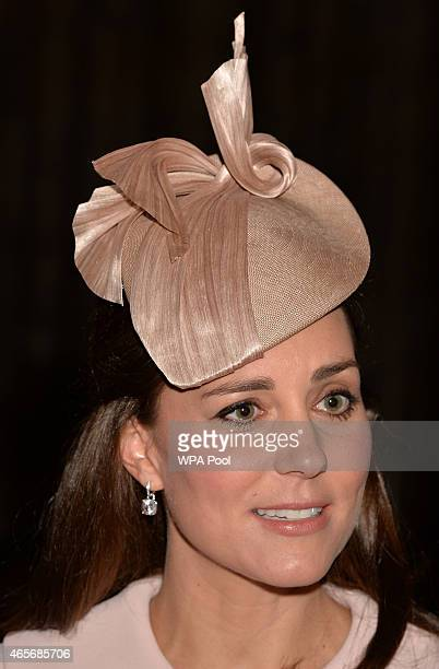 Catherine Duchess of Cambridge attends the Observance for Commonwealth Day Service At Westminster Abbey on March 9 2015 in London England