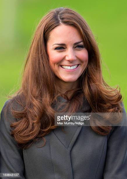 Catherine Duchess of Cambridge attends the official launch of The Football Association's National Football Centre at St George's Park on October 9...