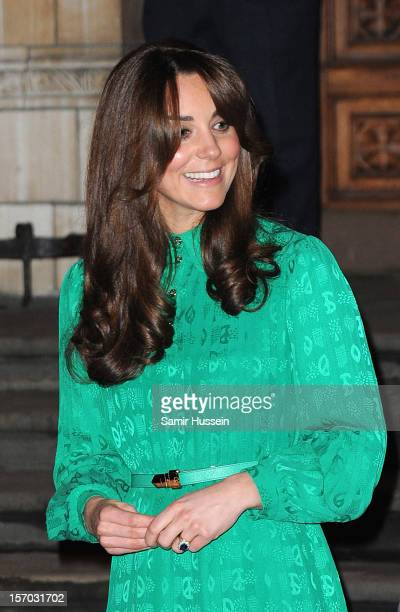 Catherine Duchess of Cambridge attends the official opening of The Natural History Museums's Treasures Gallery at Natural History Museum on November...
