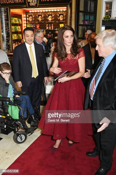 Catherine Duchess of Cambridge attends the Opening Night Royal Gala performance of 42nd Street in aid of the East Anglia Children's Hospice at the...