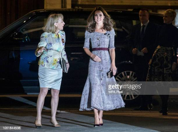 Catherine Duchess of Cambridge attends the opening of the VA Photography Centre at Victoria Albert Museum on October 10 2018 in London England The...