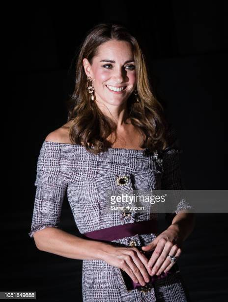 Catherine, Duchess of Cambridge attends the opening of the V&A Photography Centre at Victoria & Albert Museum on October 10, 2018 in London, England....