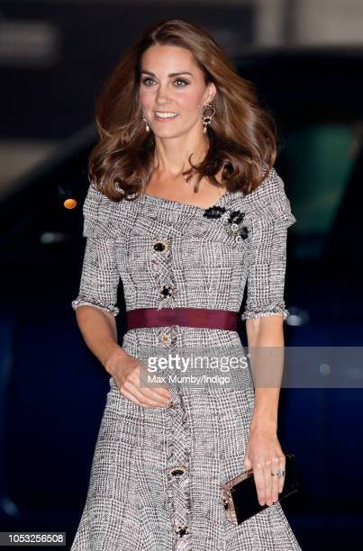 Catherine Duchess of Cambridge attends the opening of the VA Photography Centre at the Victoria Albert Museum on October 10 2018 in London England...