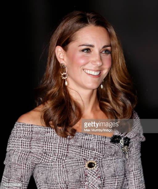 Catherine, Duchess of Cambridge attends the opening of the V&A Photography Centre at the Victoria & Albert Museum on October 10, 2018 in London,...