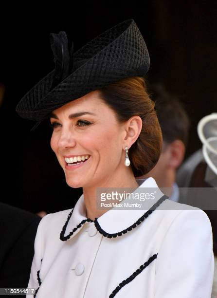 Catherine Duchess of Cambridge attends the Order of the Garter service at St George's Chapel on June 17 2019 in Windsor England The Most Noble Order...