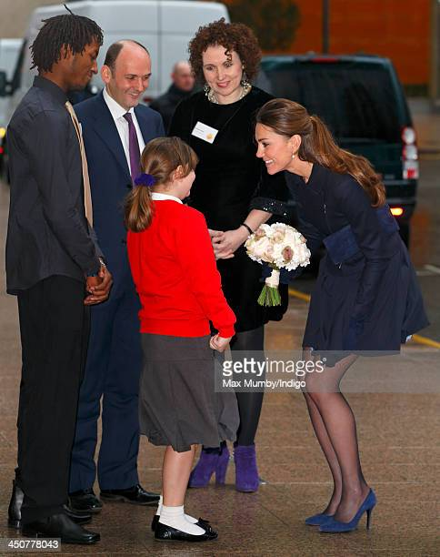 Catherine, Duchess of Cambridge attends the Place2Be Forum at the offices of Clifford Chance, Canary Wharf on November 20, 2013 in London, England.