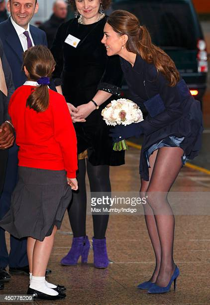 Catherine Duchess of Cambridge attends the Place2Be Forum at the offices of Clifford Chance Canary Wharf on November 20 2013 in London England