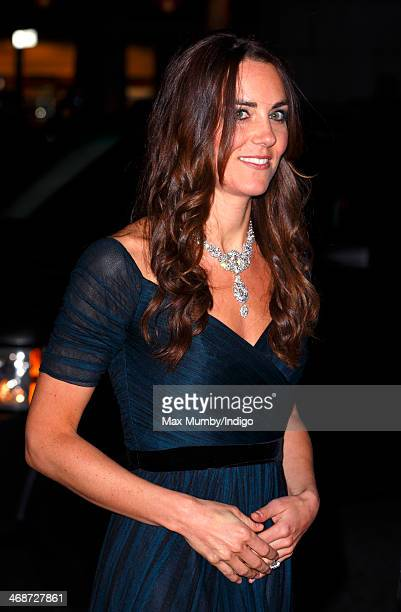 Catherine Duchess of Cambridge attends The Portrait Gala 2014 Collecting to Inspire at the National Portrait Gallery on February 11 2014 in London...