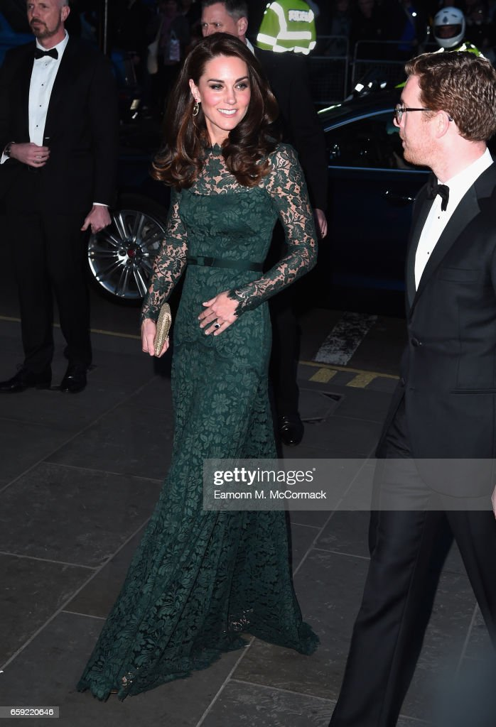 Catherine, Duchess of Cambridge attends the Portrait Gala 2017 at the National Portrait Gallery on March 28, 2017 in London, England.