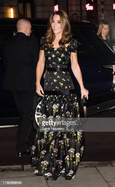 Catherine, Duchess of Cambridge attends the Portrait Gala 2019 at the National Portrait Gallery on March 12, 2019 in London, England.