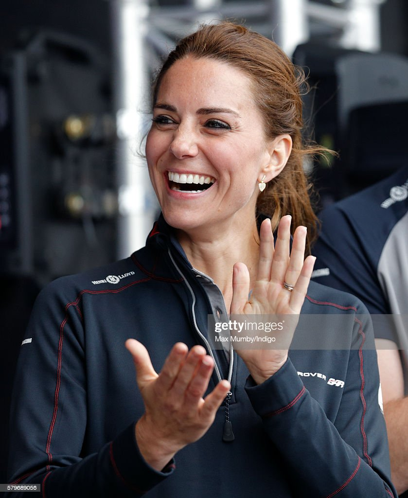 Catherine, Duchess of Cambridge attends the prize giving presentation at the America's Cup World Series on July 24, 2016 in Portsmouth, England.