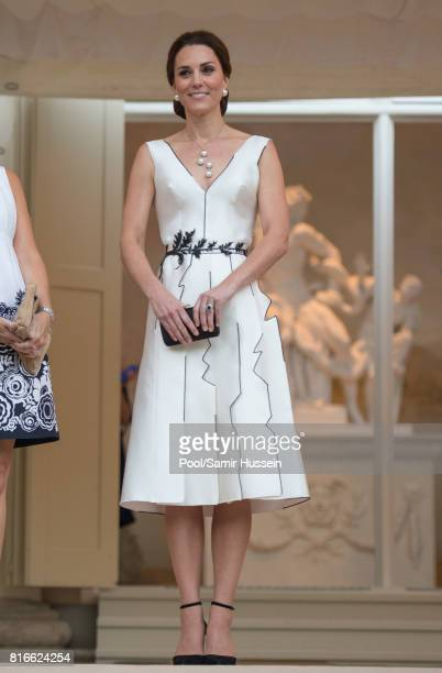 Catherine Duchess of Cambridge attends the Queen's Birthday Garden Party at the Orangeryeduring an official visit to Poland and Germany on July 17...