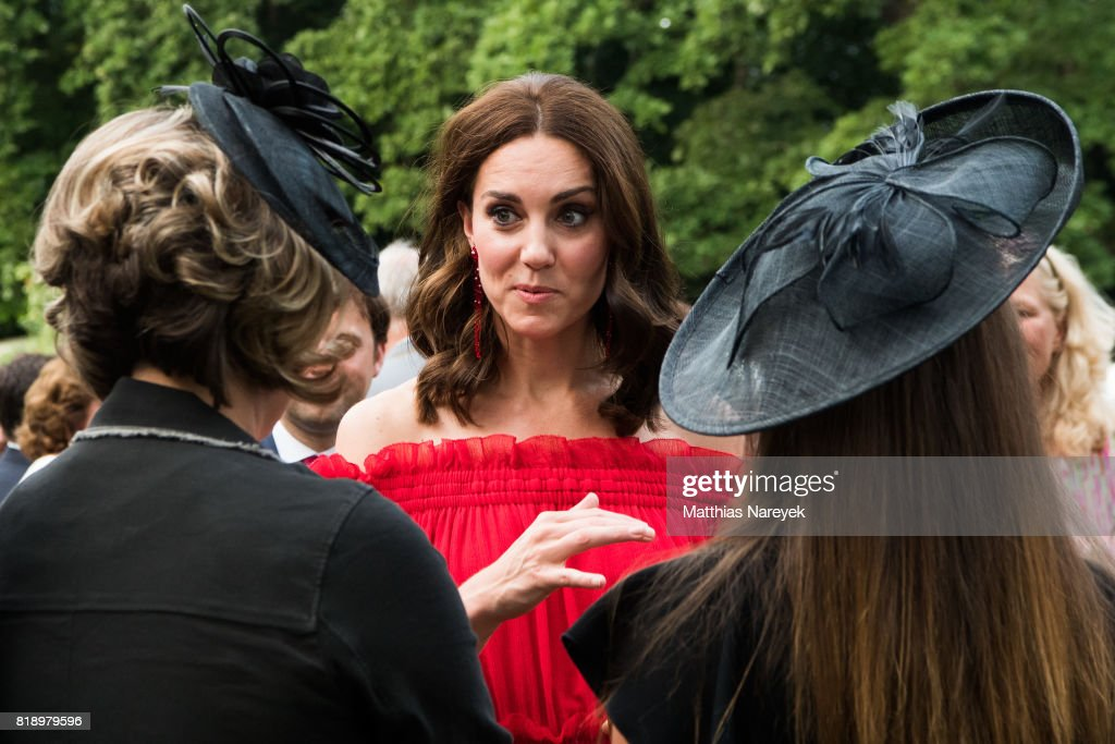 Catherine, Duchess of Cambridge attends The Queen's Birthday Party at the British Ambassadorial Residence on the first day of their visit to Germany on July 19, 2017 in Berlin, Germany. The royal couple are on a three-day trip to Germany that includes visits to Berlin, Hamburg and Heidelberg.