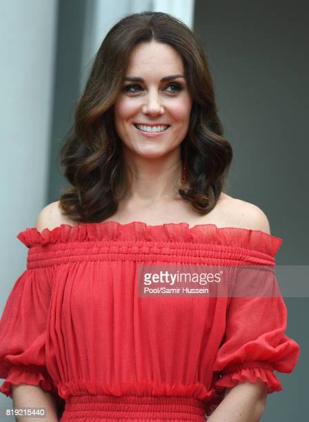 Catherine Duchess of Cambridge attends The Queen's Birthday Party at the British Ambassadorial Residenceduring an official visit to Poland and...