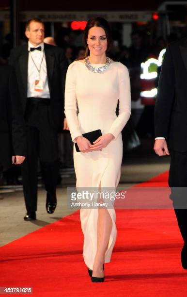 Catherine Duchess of Cambridge attends the Royal film performance of Mandela Long Walk to Freedom on December 5 2013 in London United Kingdom