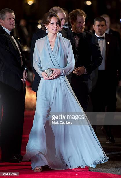 """Catherine, Duchess of Cambridge attends the Royal Film Performance of """"Spectre"""" at Royal Albert Hall on October 26, 2015 in London, England."""