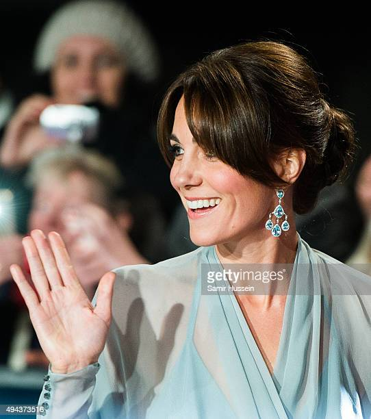 Catherine Duchess of Cambridge attends the Royal Film Performance of Spectre at Royal Albert Hall on October 26 2015 in London England