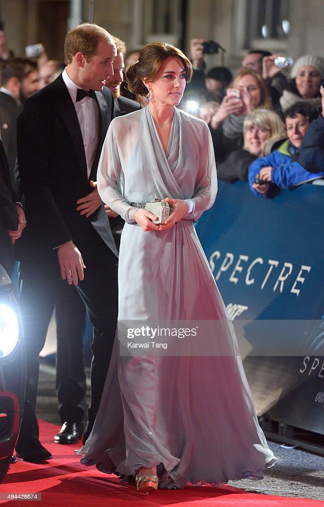 Catherine, Duchess of Cambridge attends the Royal Film Performance of 'Spectre' at the Royal Albert Hall on October 26, 2015 in London, England.