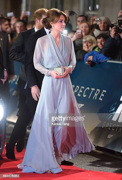 Catherine Duchess of Cambridge attends the Royal Film Performance of Spectre at the Royal Albert Hall on October 26 2015 in London England