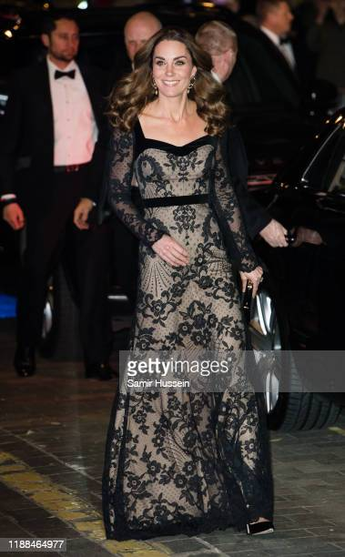 Catherine Duchess of Cambridge attends the Royal Variety Performance at Palladium Theatre on November 18 2019 in London England